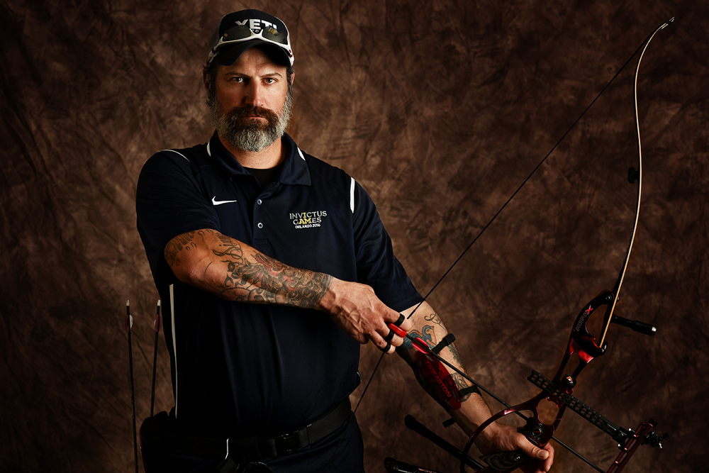 The 39-year-old Billy Meeks, from Las Cruces, New Mexico, served in the Army for 19 years and was deployed several times to Iraq. He said he gravitated toward archery because of its calming effects.