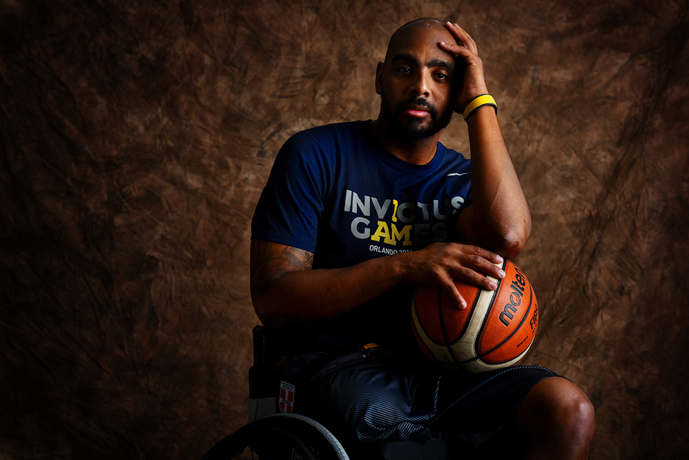 Delvin Maston, 37, is originally from New York City, but he now lives in Birmingham, Alabama. Maston won a gold medal in wheelchair basketball.