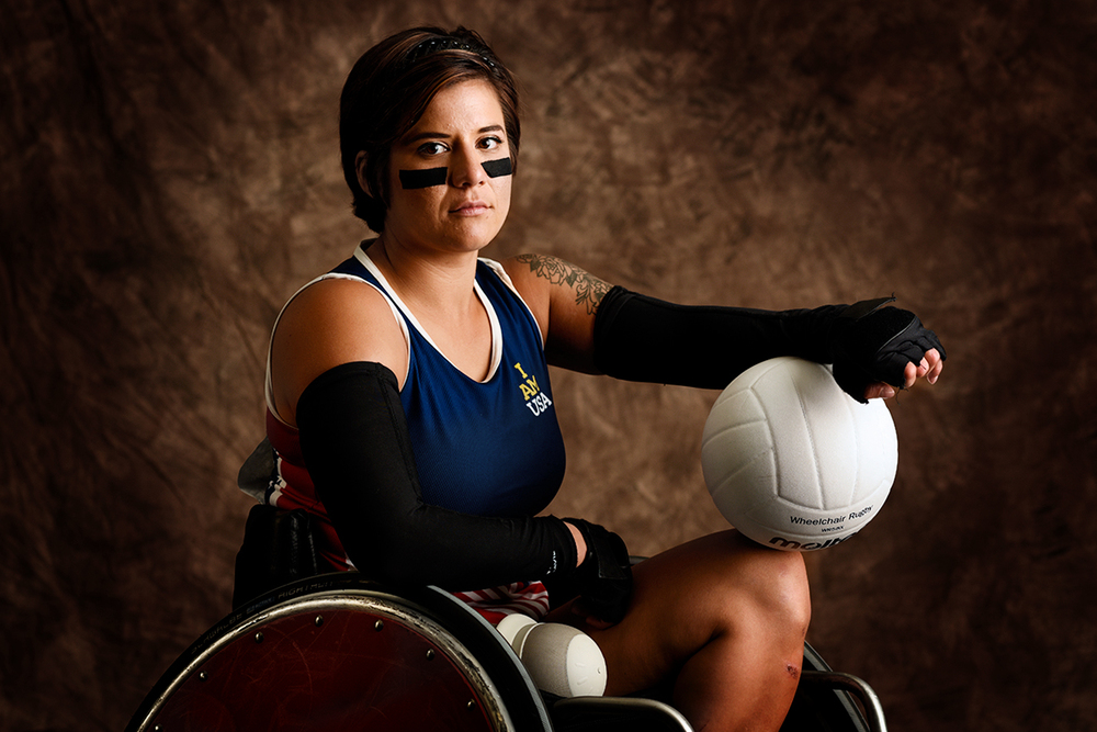 Sebastiana Lopez Arellano, 25, served in the United States Air Force. She won a gold medal in rugby and a silver in the discus.