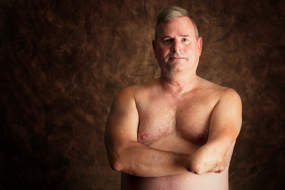Peter Cook, 56, is a Marine Corps veteran who performed air command and air support duties.