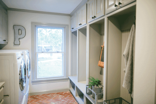 Fixer Upper Dutch Door Laundry Room Nook