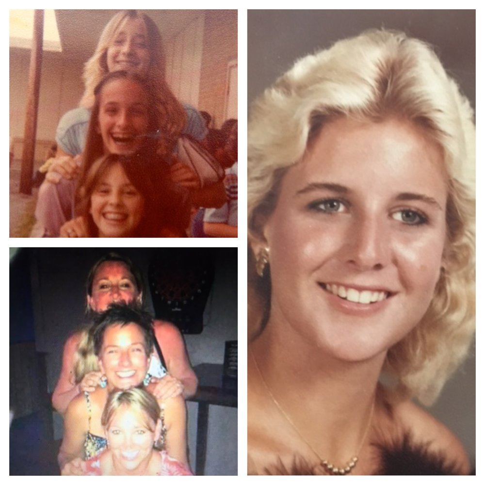 Here are my sister, Lisa Irby Nopper, and Flour Bluff neighbors Susan Suerth Croweand Dena Lowery Quintero, then and now. Plus my high school graduation picture.We're all still friends today!