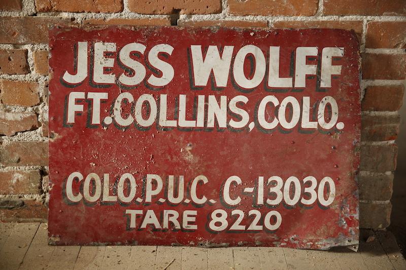 Vintage Ft. Collins sign
