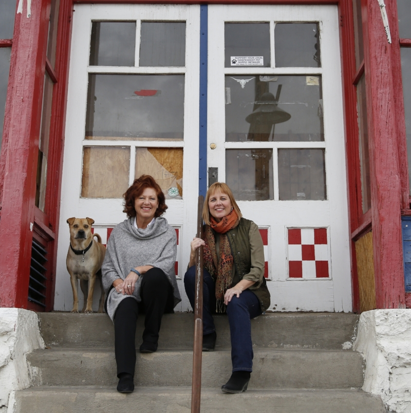 Ginger and Deb. With a little help from Jed. Photo by Marc Piscotty