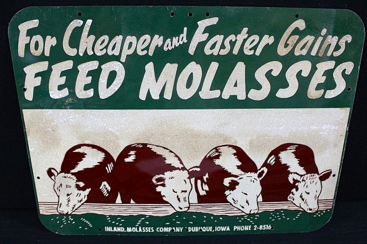 Vintage Molasses Feed Sign