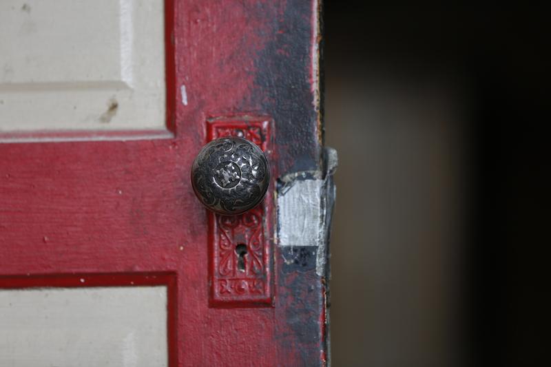 Original front door knob.