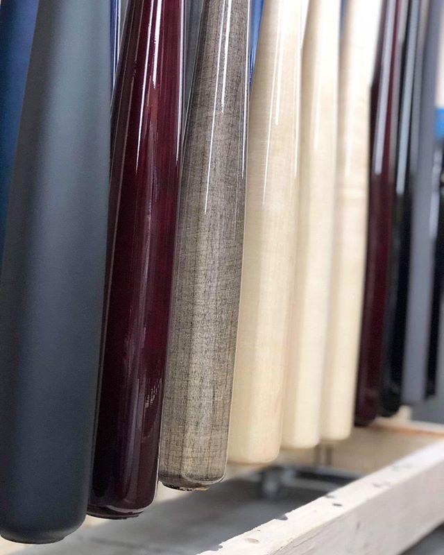 Barrels on barrels. 😍 #Barrels #Finished #gloss #matte #custom #ProLimited #handcrafted #baseball #bats #MapleBats #rugged #authentic #professional #hitting #montreal #canada