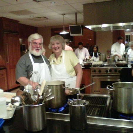 Marilyn and her husband Stephen loved to attend cooking classes / Family Photo