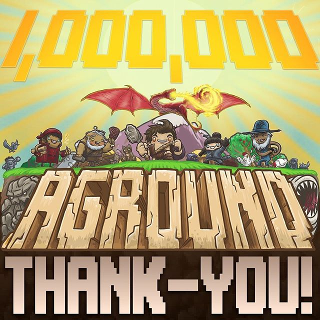 Aground hit 1 million plays last night and we are so freaking happy! 😁🤩 We really couldn't have done this without our fans, and we couldn't have made it this far in the #Kickstarter campaign either!! You only have until March 2nd to get in on the KS, so click the link in my bio if you're interested ♥️ #thankyou #gamers #fans #indiegame #indiegamedev #gamedev #pixelart #digitalart