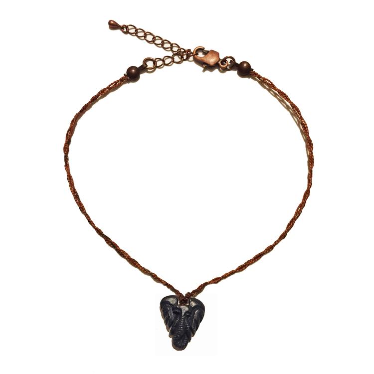 Elephant head necklace zuri zion elephant head necklace aloadofball Images