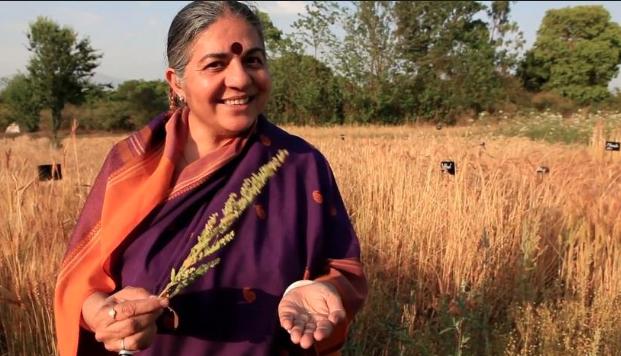 Vandana Shiva, Indian scholar, environmental activist, food sovereignty advocate, and alter-globalization author