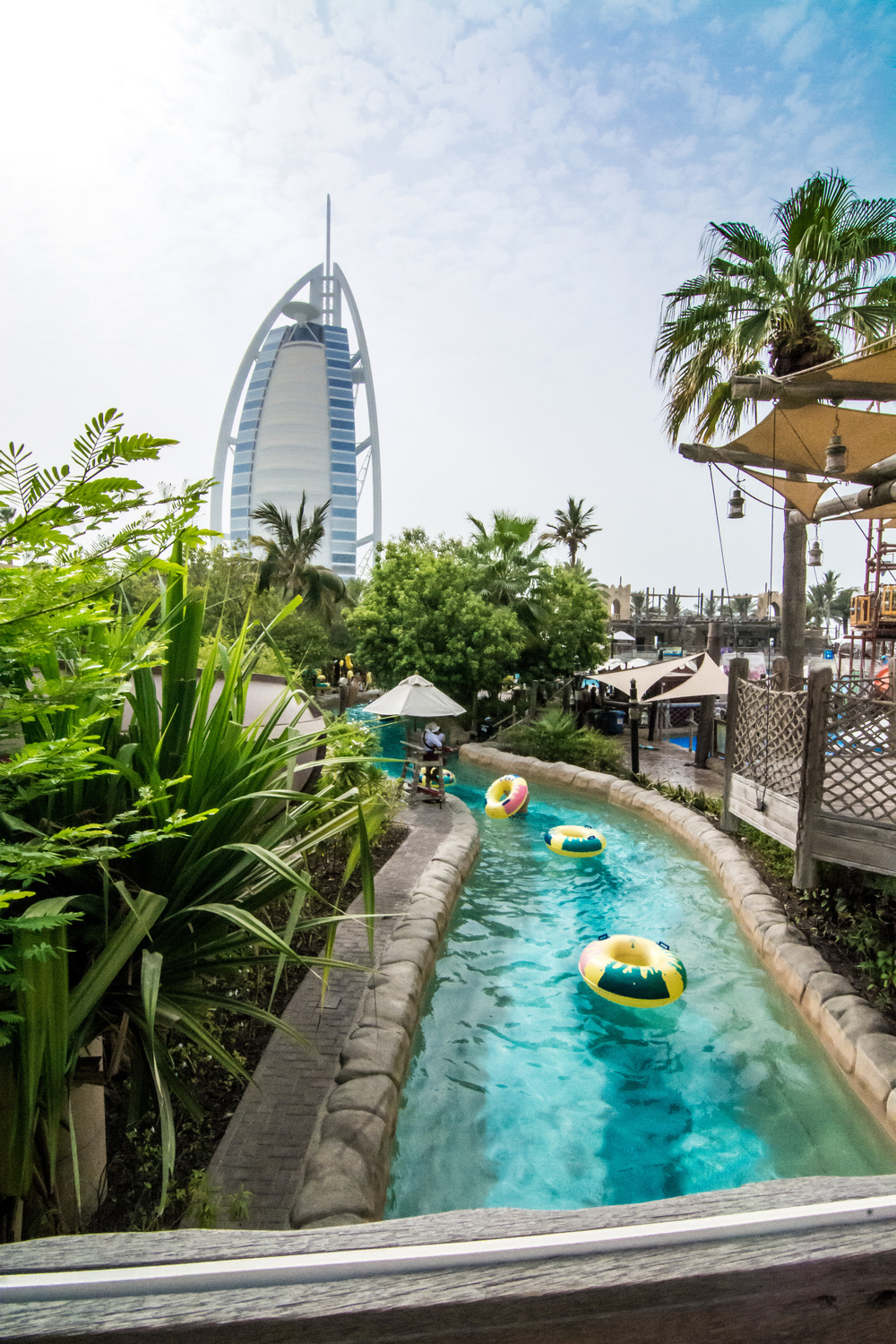 Burj Al Arab and the lazy river.