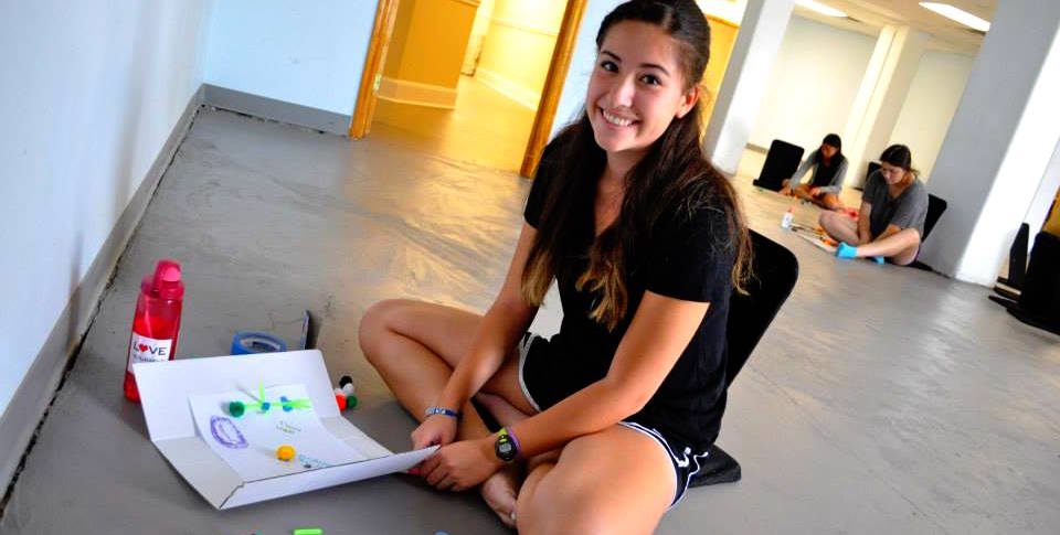 Alex works on an art project during her Activating Leadership session, Summer 2013