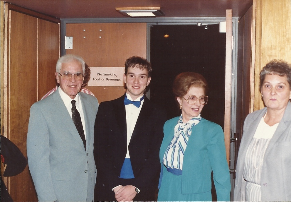 L-R: Romeo Fracalanza, Kevin Class, Josephine Fracalanza, Merryanne Class (c. 1987)