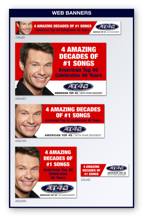 American Top 40 With Ryan Seacrest: 40th Anniversary Asset Pack