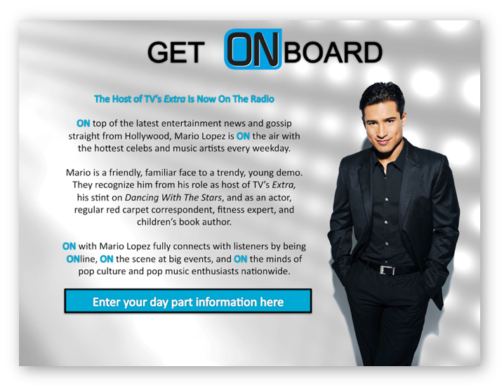 On With Mario Lopez: Pitch Decks
