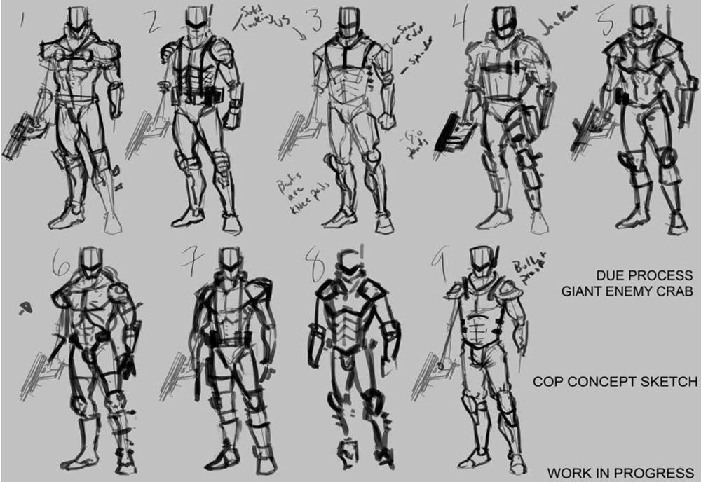 Character Development Design Process : Police character development process part