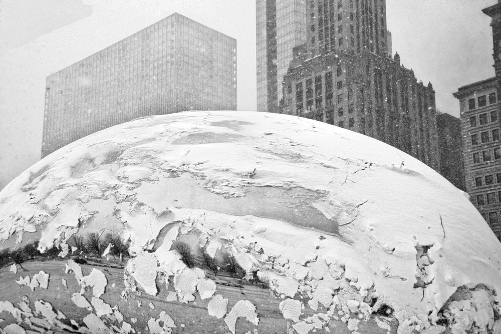 The Chicago Bean in Winter