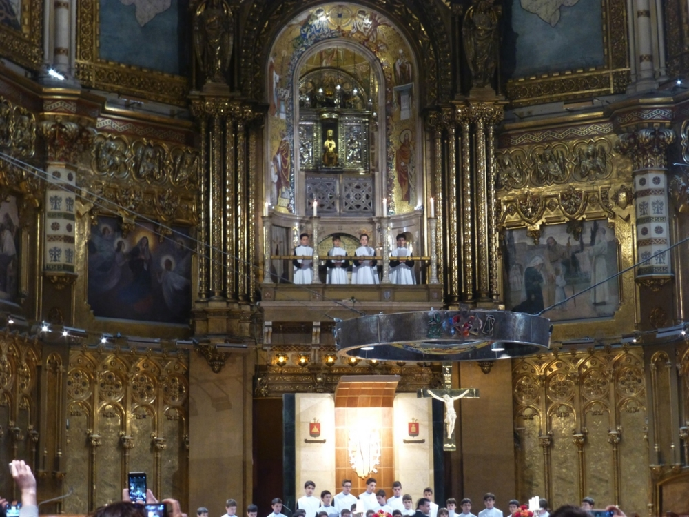 Partial photo of the choir.  An oft visited replica of the Black Madonna is center overhead.  Photo courtesy of Debra Rogers.