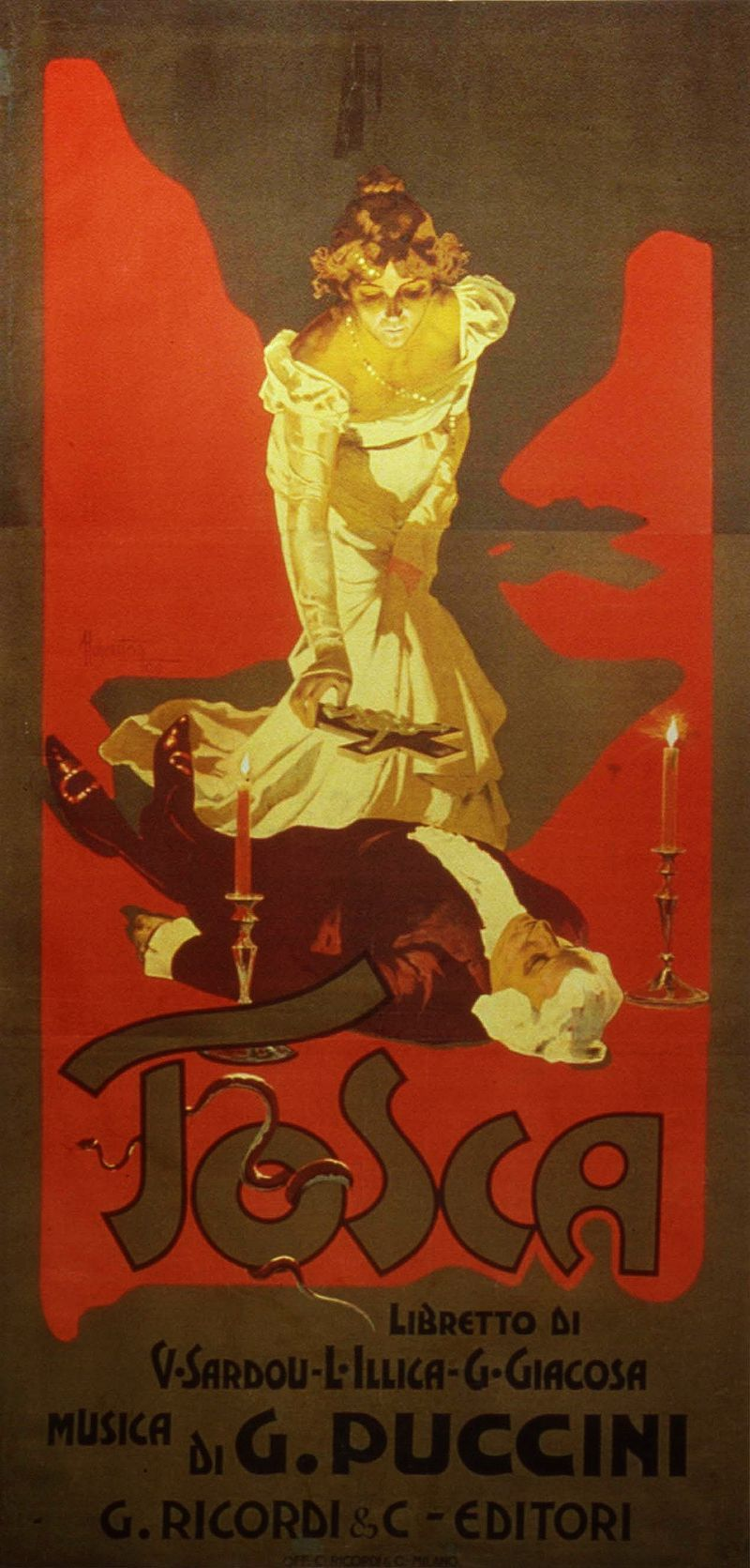 Original Tosca poster. In public domain from  Wikepedia .