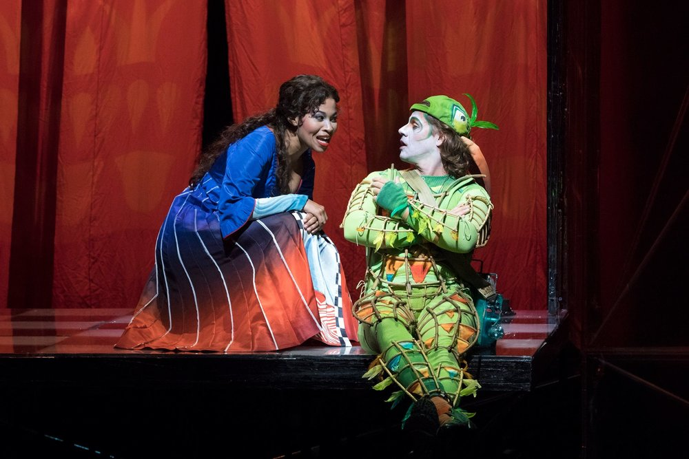 Golda Schult z as Pamina and Markus Werba as Papageno. Photo by Richard Termine; courtesy of the Metropolitan Opera.