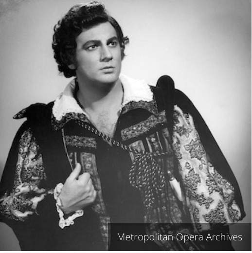 Placido Domingo in 1971 production of  Luisa Miller  as Rudolfo; the 1979 production was his second  Luisa Miller . Met Opera Archive photo taken from Placido Domingo's  website .