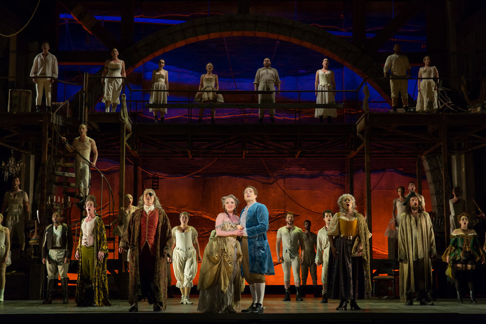 Cast of WNO's Candide. Photo by Scott Suchman; courtesy of Washington National Opera.