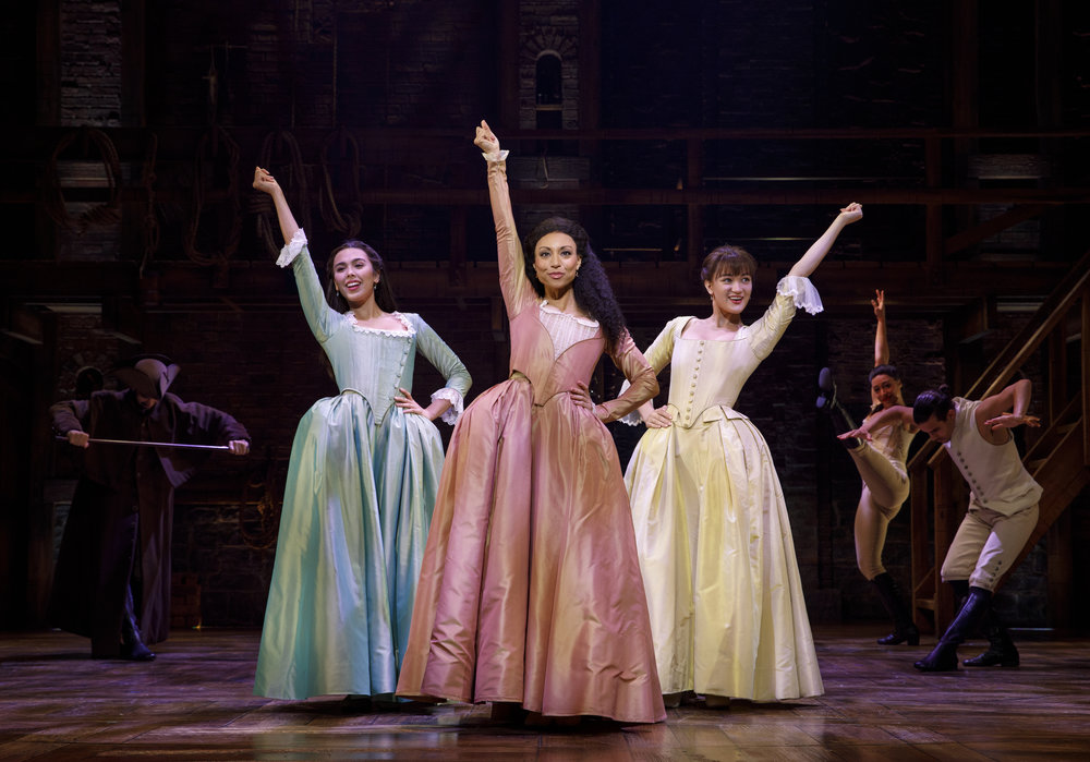 Julia K. Harriman, Sabrina Sloan, Isa Briones and Company - HAMILTON National Tour - (c) Joan Marcus.jpg