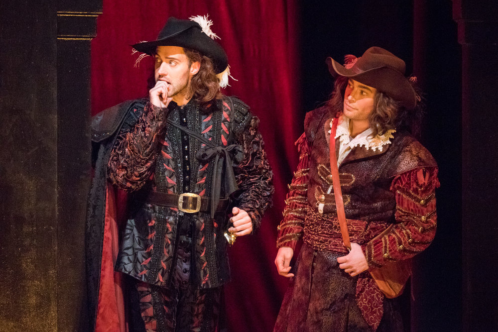 Tobias Greenhalgh as Don Giovanni and Zachary Altman as Leporello. Photo by Ben Schill Photography; courtesy of the Virginia Opera