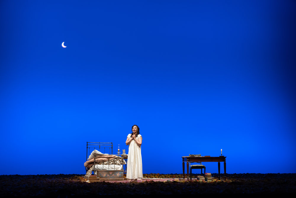 Too excited to sleep, Tatiana (soprano Anna Nechaeva) sings of love in WNO's production of Eugene Onegin_credit Scott Suchman  - Copy.JPG