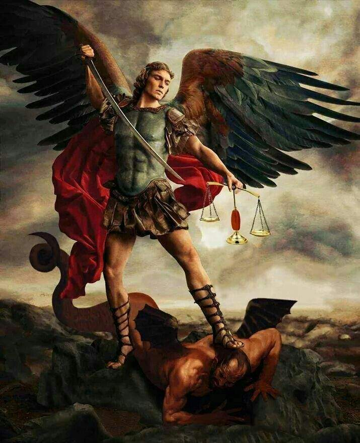 Artist depiction of Archangel Michael