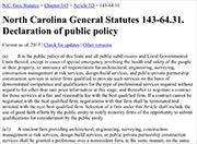DECLARATION of public policy