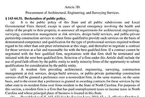procurement of architectural services