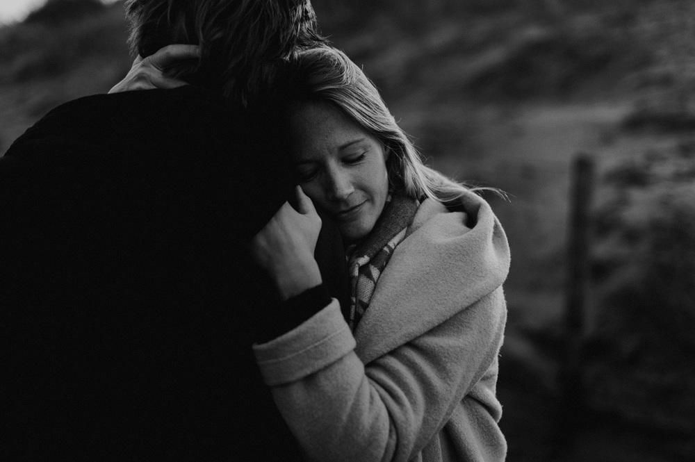Girl hugging her husband