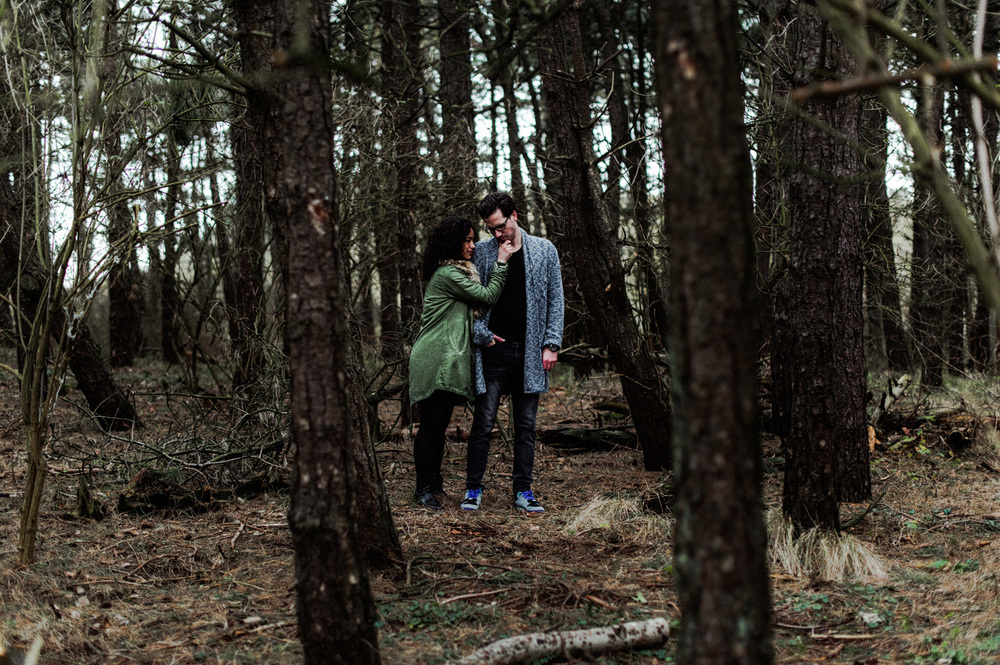 Couple in forrest together