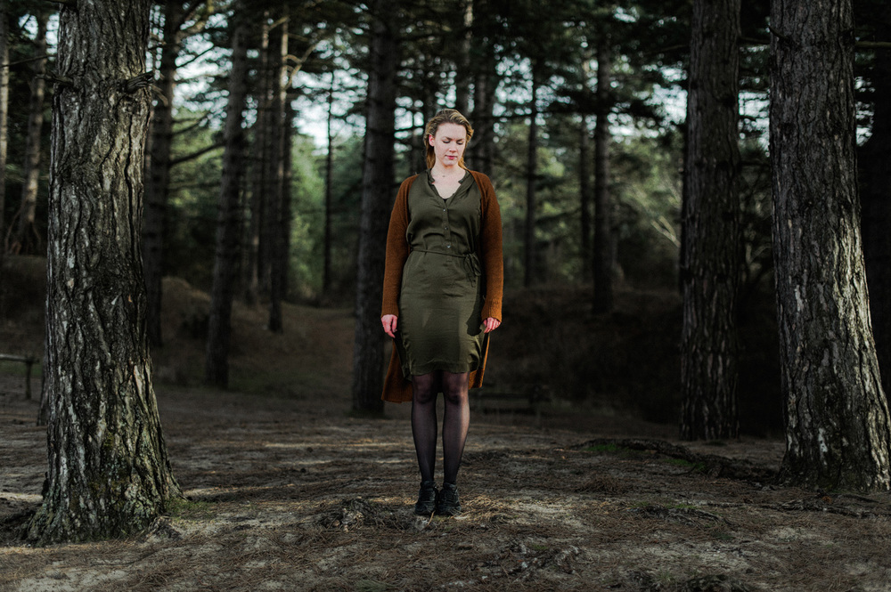 Full body portrait in the woods during mentoring session