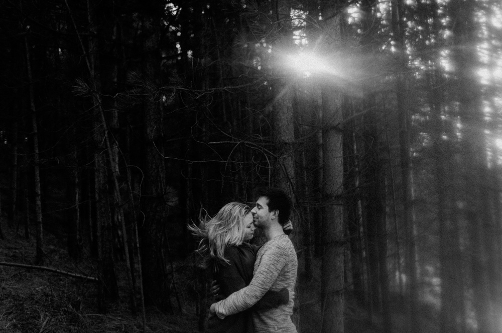 Couple shoot with flare