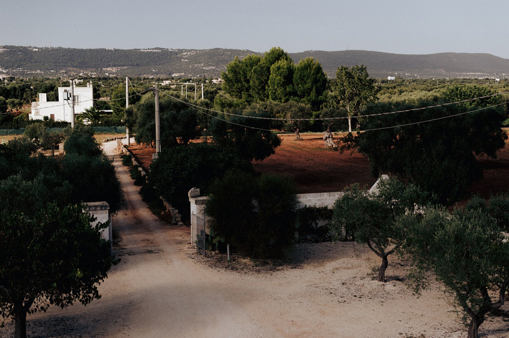 View from agriturismo in Puglia Italy