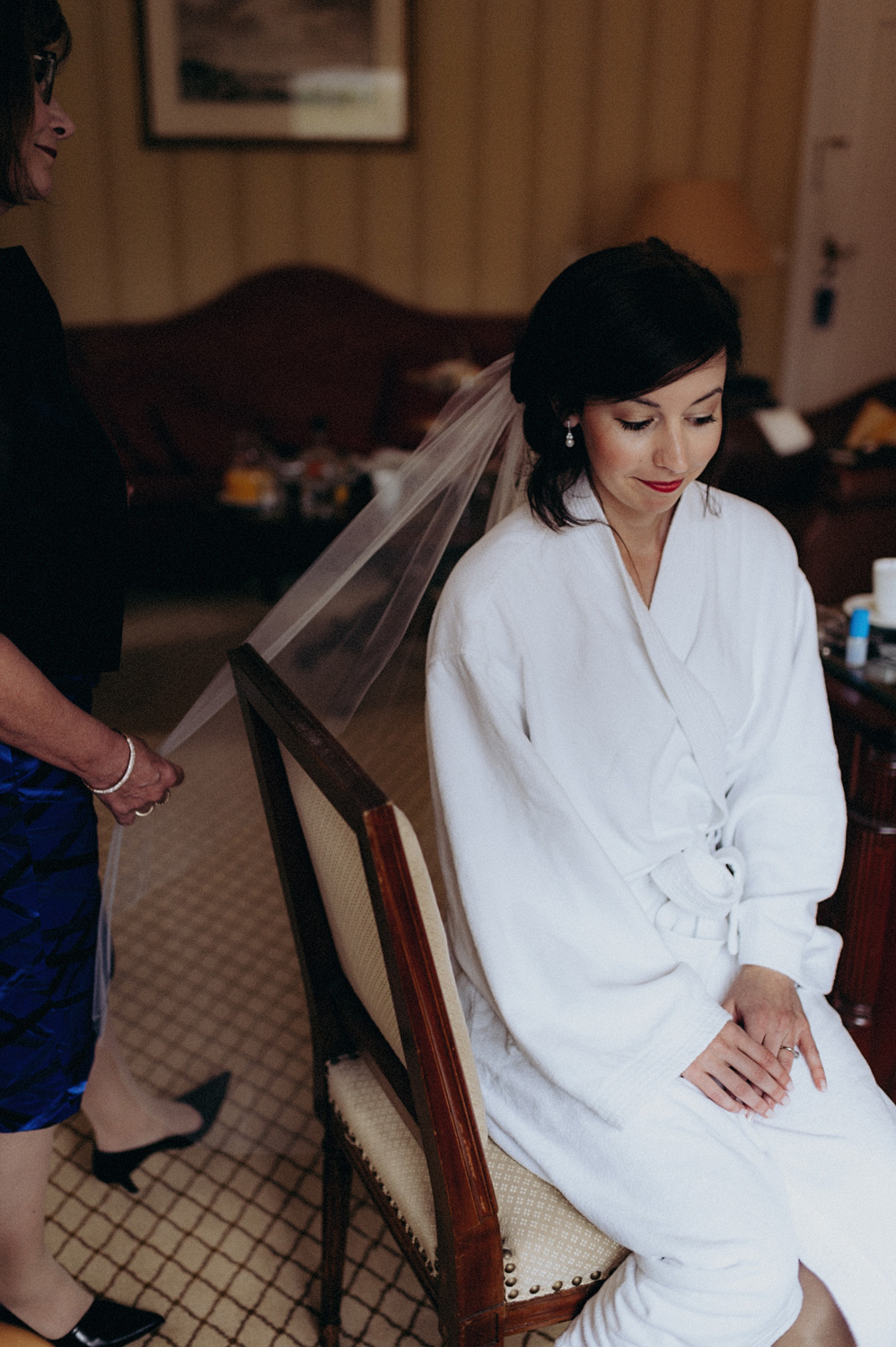 Portrait of bride during getting ready