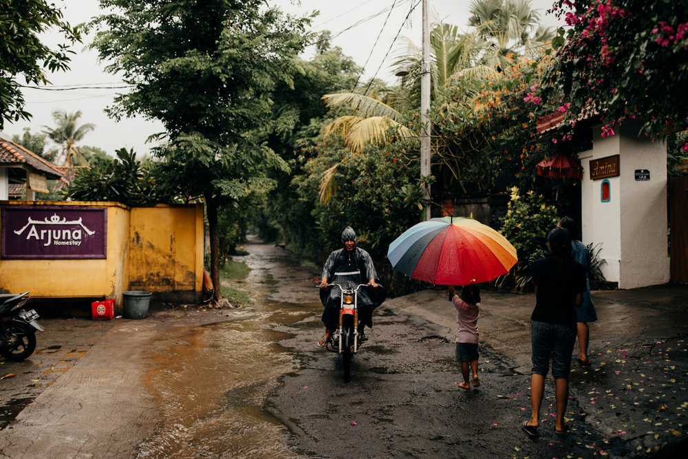 Rain season in Bali, Indonesia