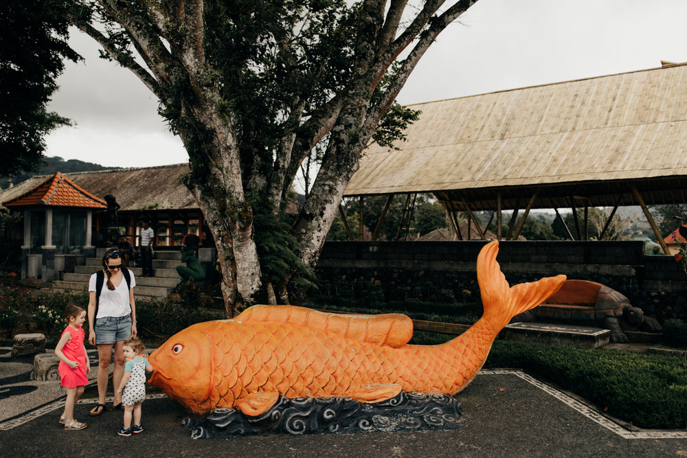 Large fish statue in Bali, Indonesia