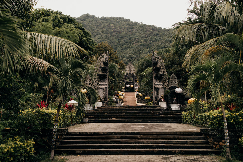 Temple entrance in Bali, Indonesia