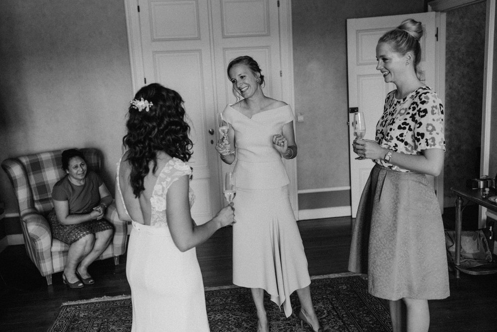 Bride and her best friends