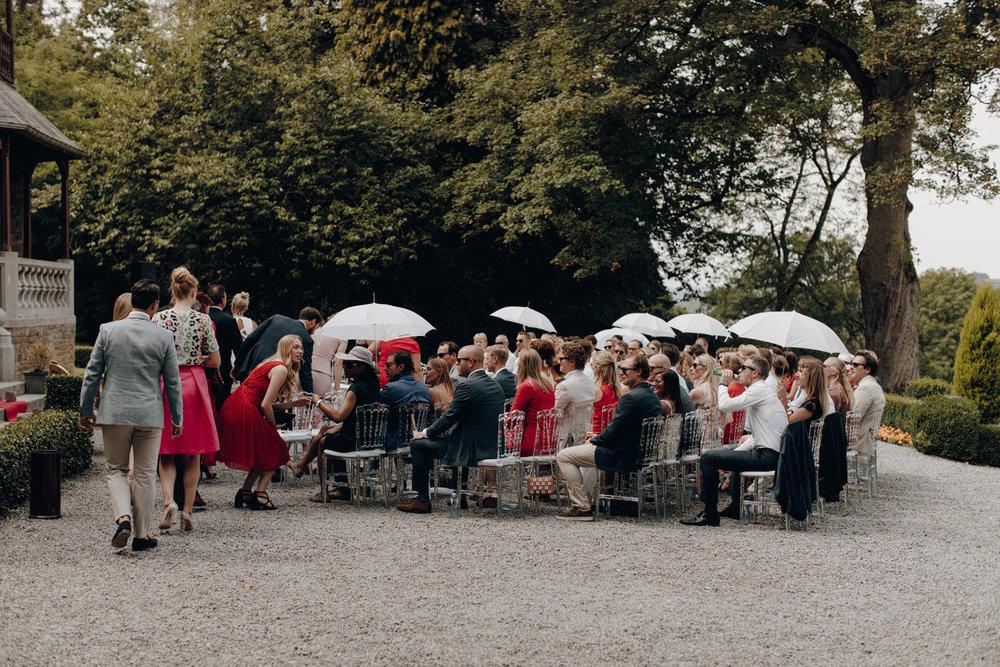 Wedding ceremony at Chateau de Presseux