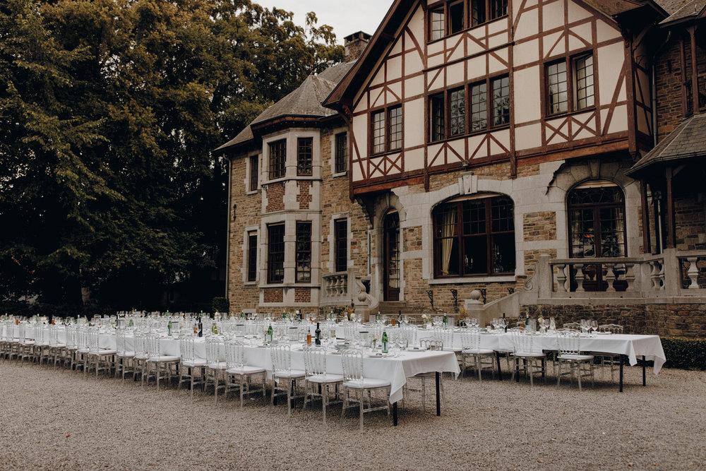 Dinner at Chateau de Presseux