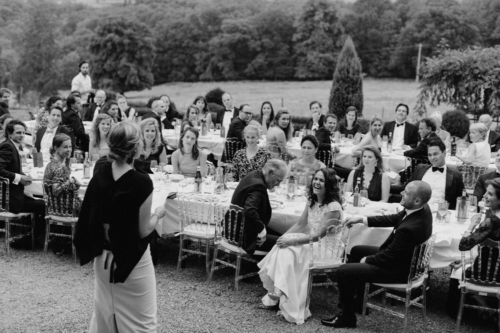 Speeches during wedding at Chateau de Presseux