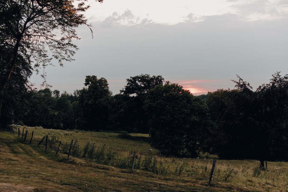 Sunset at Chateau de Presseux