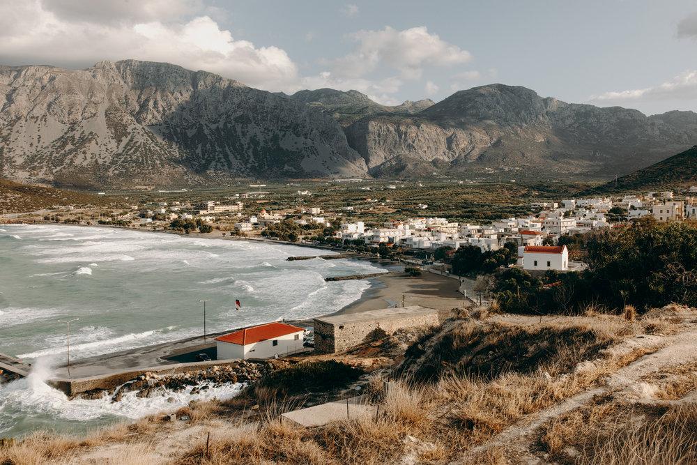 Beautiful village view in Crete, Greece