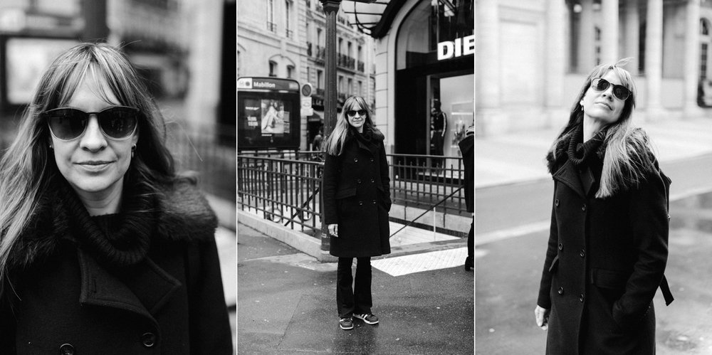 Girl posing in the streets of Paris, France