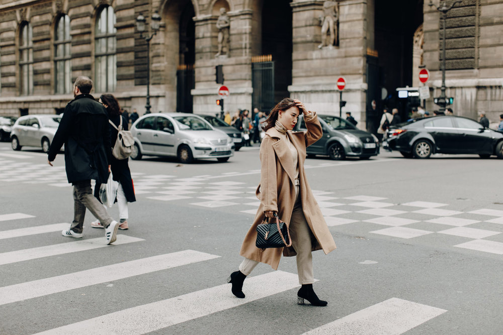 Girl on crossover in Paris, France